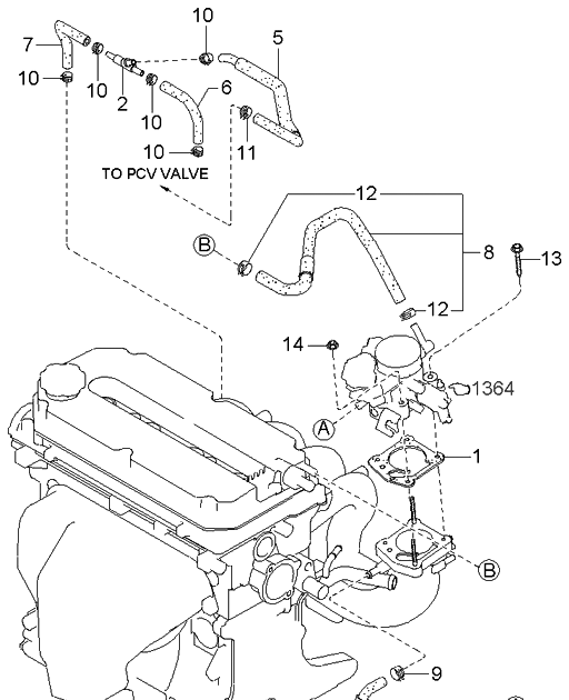 2003 Kia Spectra Rear Brake Diagram