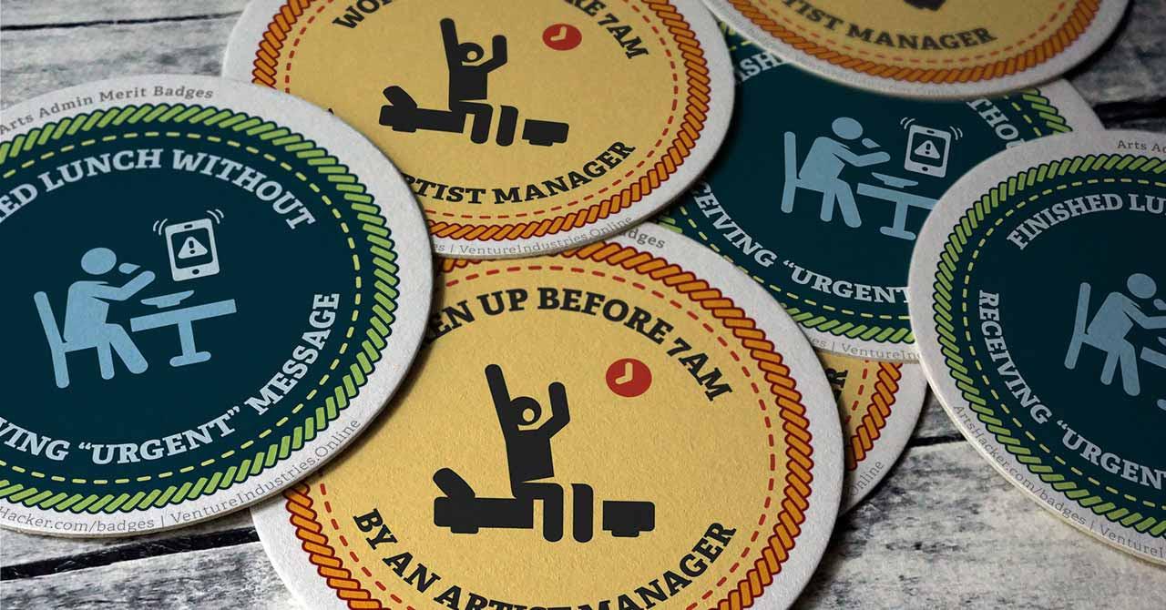 Arts Admin Merit Badges - Arts Hacker