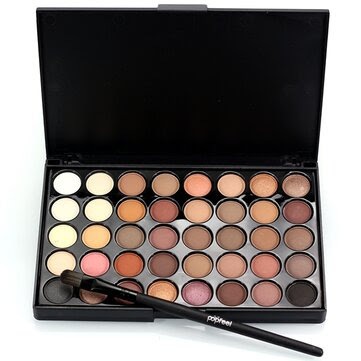 Resultado de imagen para 40 Colors Mini Eyeshadow Palette Set Kit Glitter Shimmer Cosmetic Portable Eye Makeup