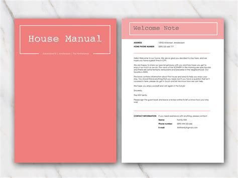 TIP: AirBnB House Manuals and Welcome Letter Templates