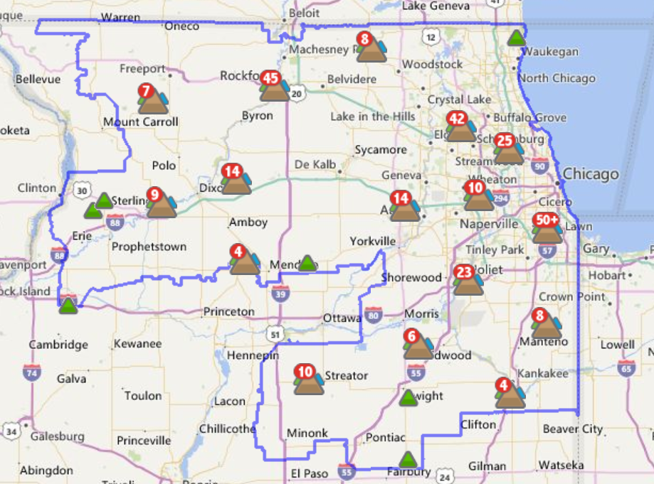 Comed Power Outage Map Il | World Map Interactive
