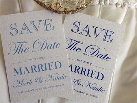 Save The Date We're Getting Married   Wedding Stationery