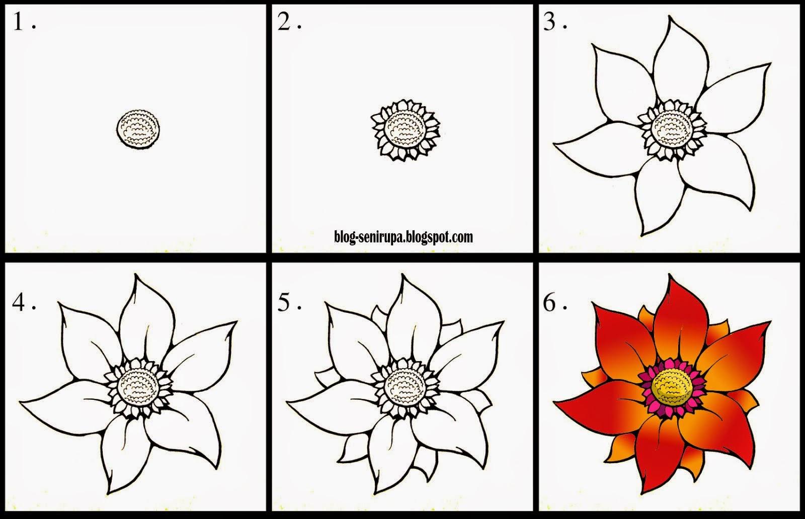 Gambar 24 Gambar Sketsa Bunga Pensil Mudah Dibuat Contoh Ditiru Di