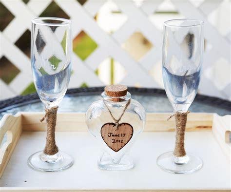 Custom Rustic Heart Vase Wedding Unity Sand Ceremony Set
