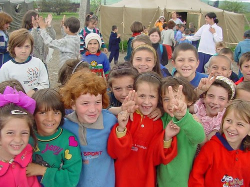 Children @ play: Aki Yurt refugee camp