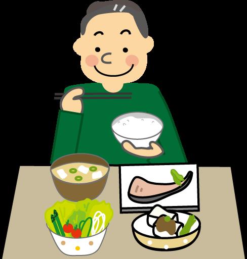 健康管理のイラスト食事療法運動療法保健医療無料イラスト