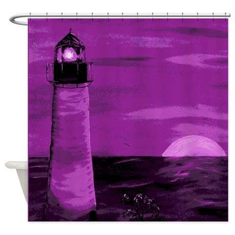 Lighthouse Shower Curtains | Lighthouse Fabric Shower Curtains
