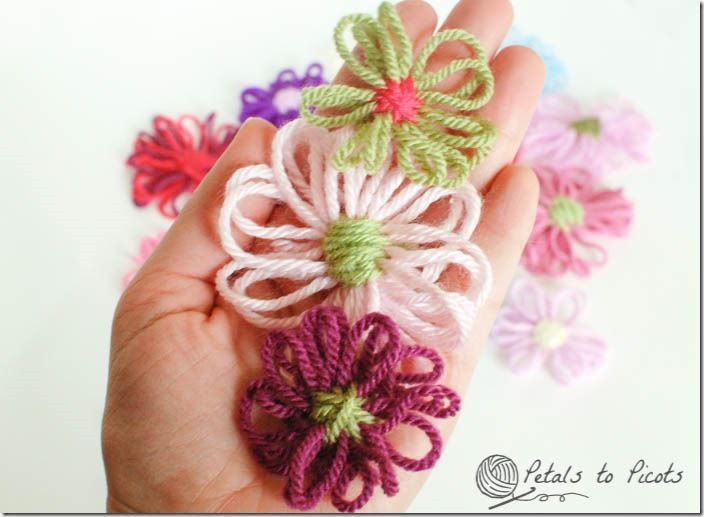 How to Make Loom Flowers | Petals to PicotsPetals to Picots