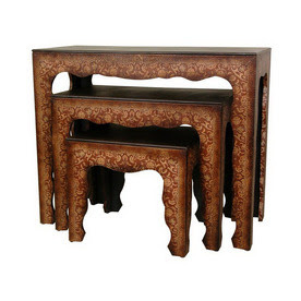 Shop Oriental Furniture Olde-Worlde European Accent Table Set at ...