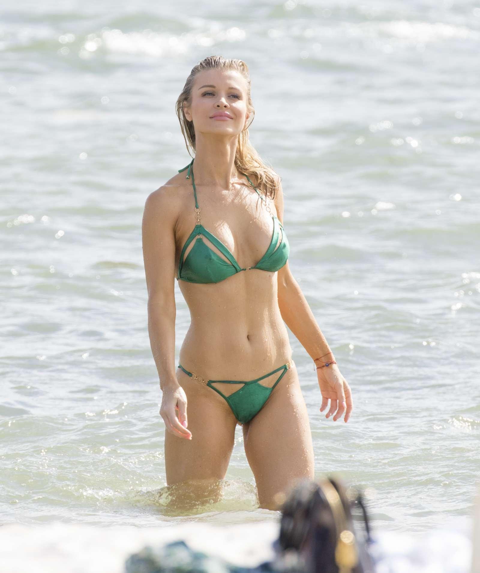Joanna Krupa in Bikini paddleboarding in Miami