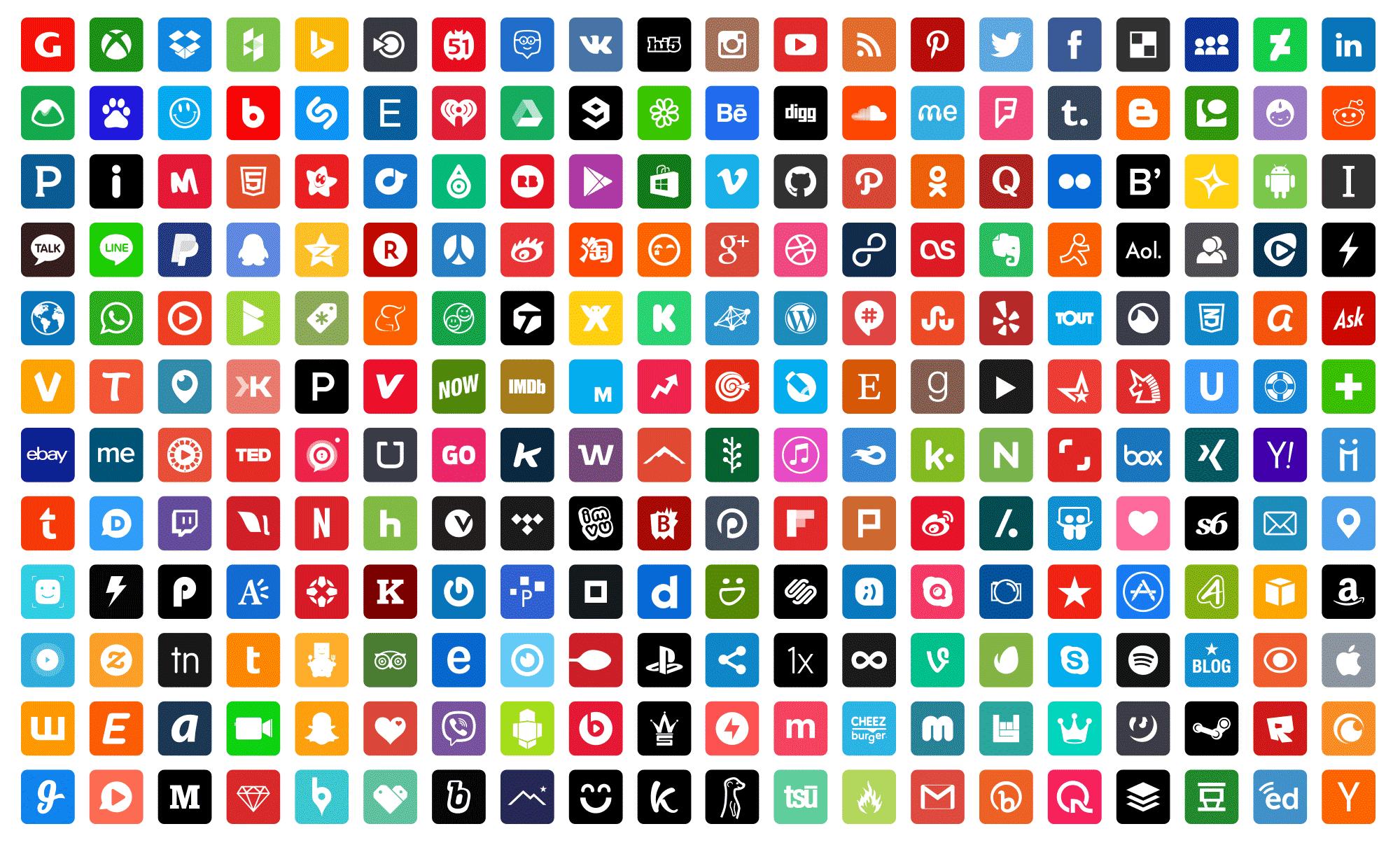 Resultado de imagen de facebook twitter instagram tumblr tuenti logo