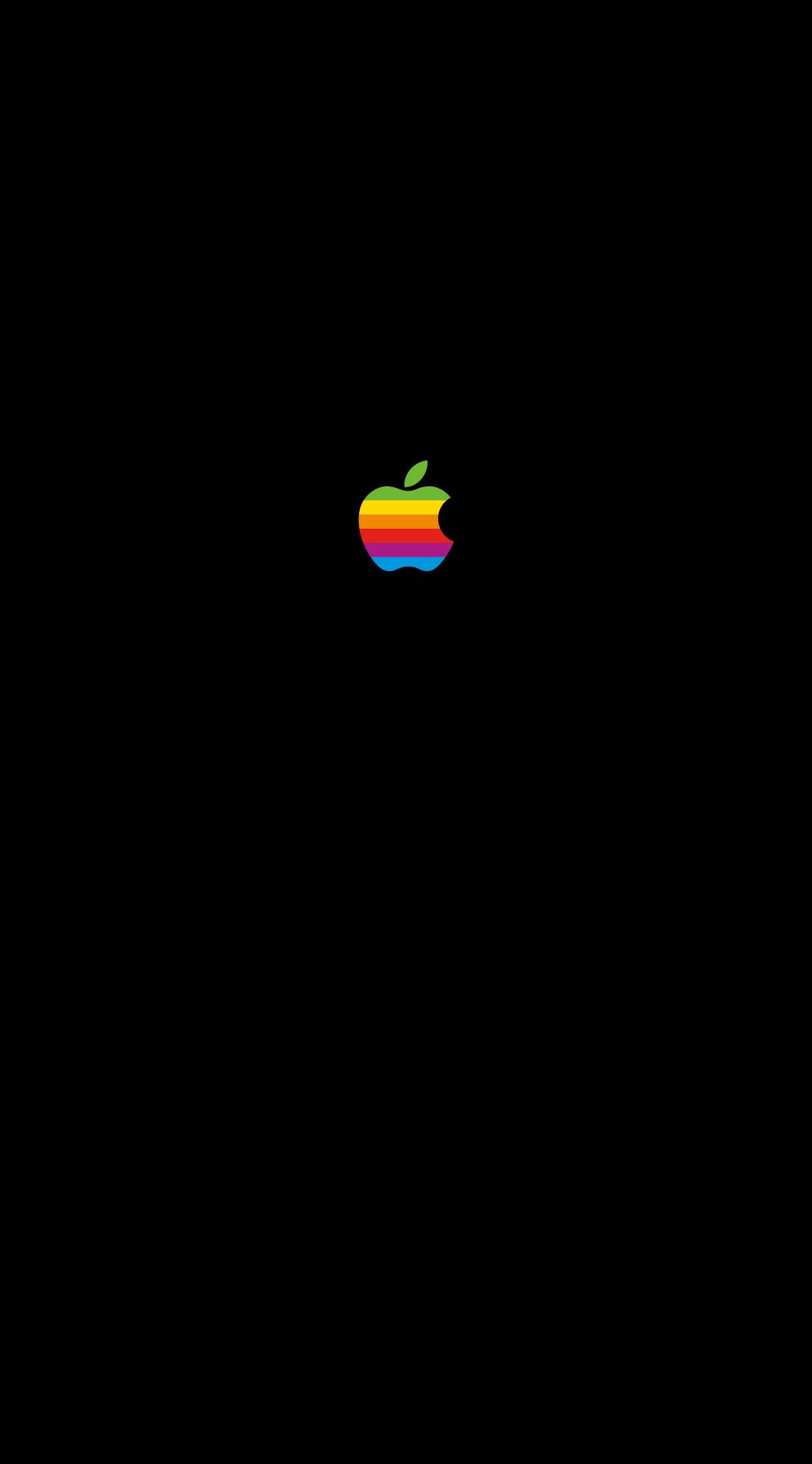 Apple レインボーロゴ壁紙配布します Imac Macbook Ipad Iphone X