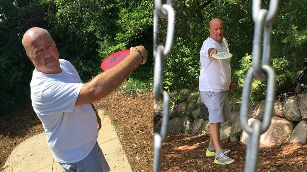 Travel Channel celebrity Andrew Zimmern has had a long-standing passion for disc golf.