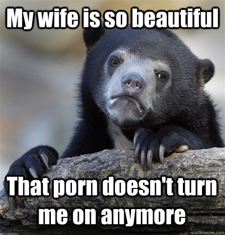My Wife Is So Beautiful That Porn Doesnt Turn Me On Anymore