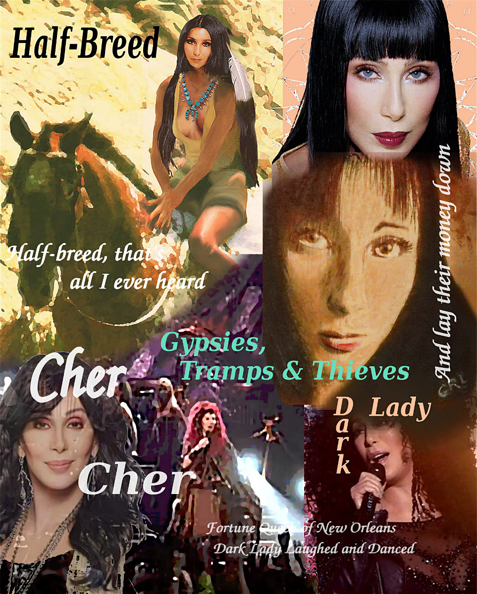 Cher Collage, Gypsies Half-Breed Dark Lady, $18 to $24 medium-size prints. Free downloads. Cher multimedia acrylic/Oil digital collage, original fine Art. ‬‎GrlFineArt. Fine art work, fine art decor, ‪‎fineart; landscapes, seascapes, boats, figures, nudes, figurative art, flowers, still life, digital abstracts. Multimedia classical traditional modern acrylic oil ‪‎painting‬ ‪‎painting‬s prints.