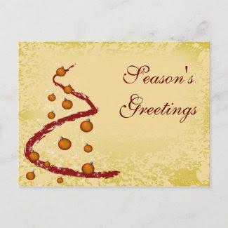 elegant business holiday Greeting PostCards postcard