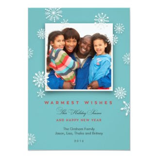 Snowflakes Holiday Photo Holiday Card