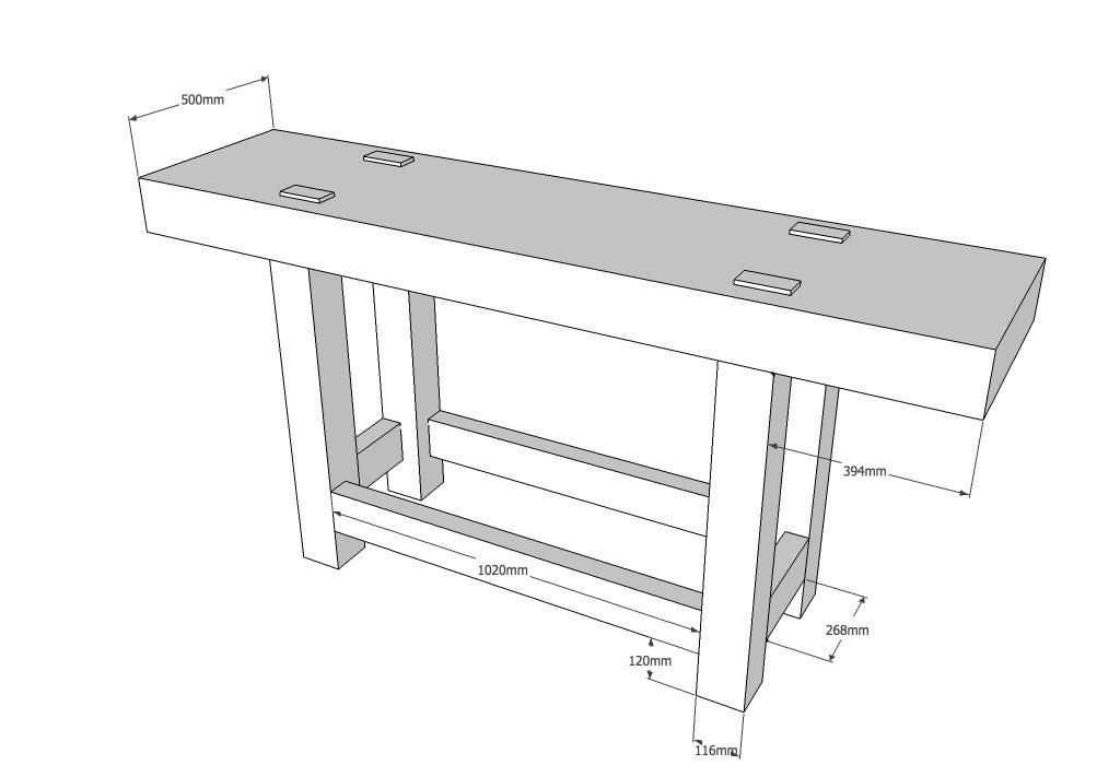 Wood Workbench Plans Metric
