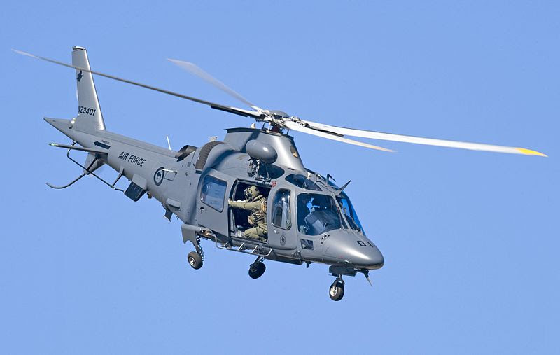 File:RNZAF A109 helicopter at the 2012 Wanaka Airshow.jpg