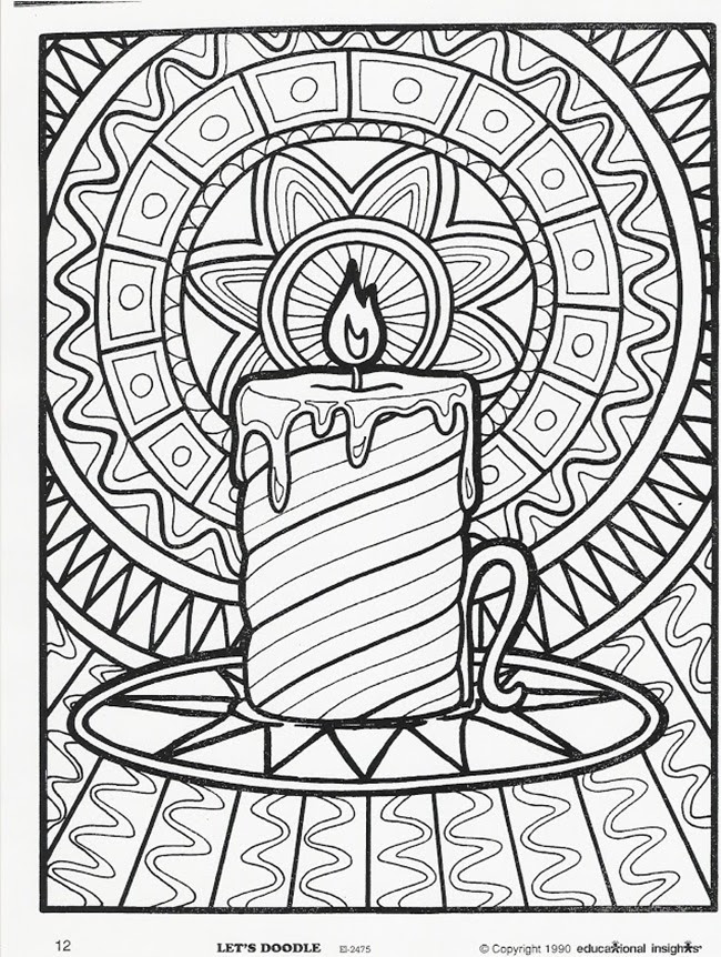 Relaxing Holiday coloring pages: 12 Christmas Adult ...