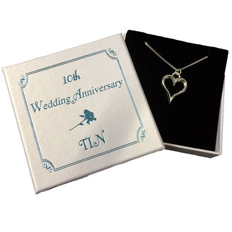 Tin Heart Necklace   10th Anniversary   MyGiftGenie