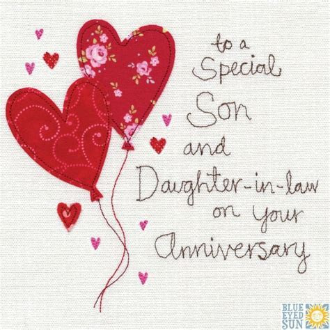 A Son and Daughter In Law Anniversary Card   Happy
