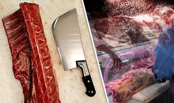 Human flesh served in restaurant