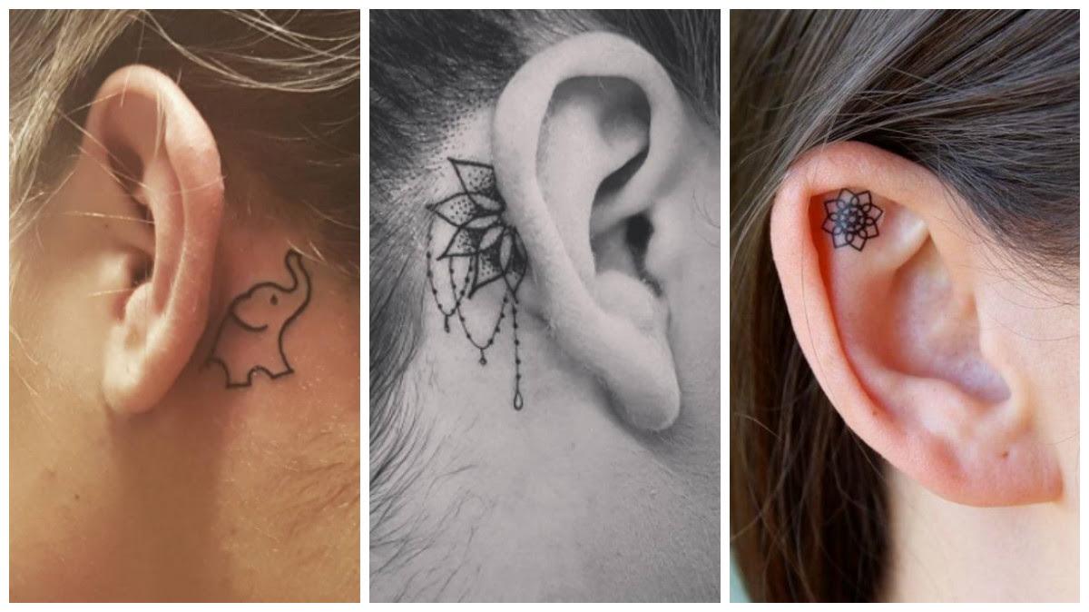 15 Hermosos Y Pequeños Tatuajes En La Oreja Que Son Mil Veces Mejor