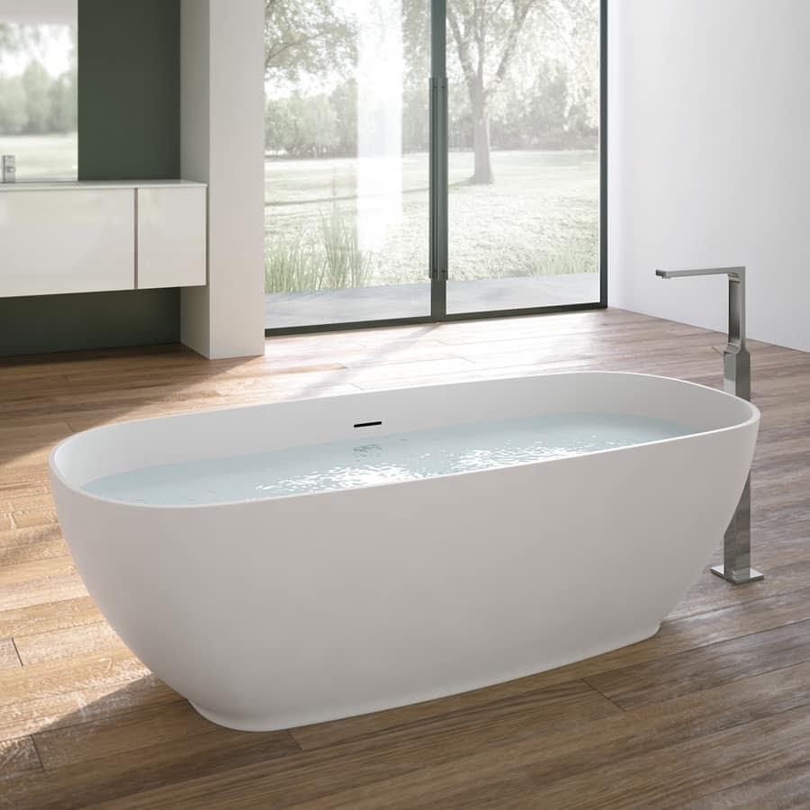 Vasca da bagno ovale, con rubinetto cromo | IDFdesign