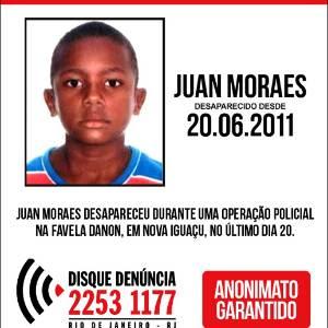 Juan Moraes foi assassinado no dia 20 de junho durante uma ação do 20º BPM (Mesquita) para reprimir o tráfico de drogas na comunidade do Danon, na Baixada Fluminense