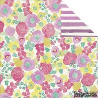 Лист скрапбумаги My Mind's Eye - Jubilee Shepbet - Happy Lovely, 30х30 см, двусторонняя - ScrapUA.com