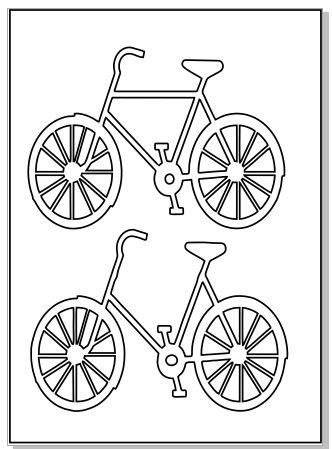 bicycles Micro 64 x 89 sheet