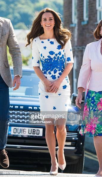 The Duke & Duchess Of Cambridge Visit Luton : News Photo