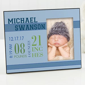 Babys Big Day Personalized Frame For Boys Picture Frames