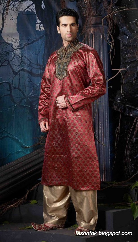 Kurta-Designs-Men-Male-New-Latest Silk-Kurta-Style-Design-1