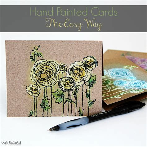 How to: Hand Painted Note Cards the Easy Way