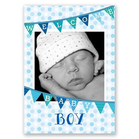 Welcome Baby Boy Birth Announcement   Invitations By Dawn
