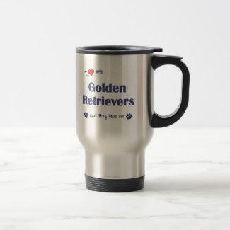 I Love My Golden Retrievers (Multiple Dogs) Coffee Mug