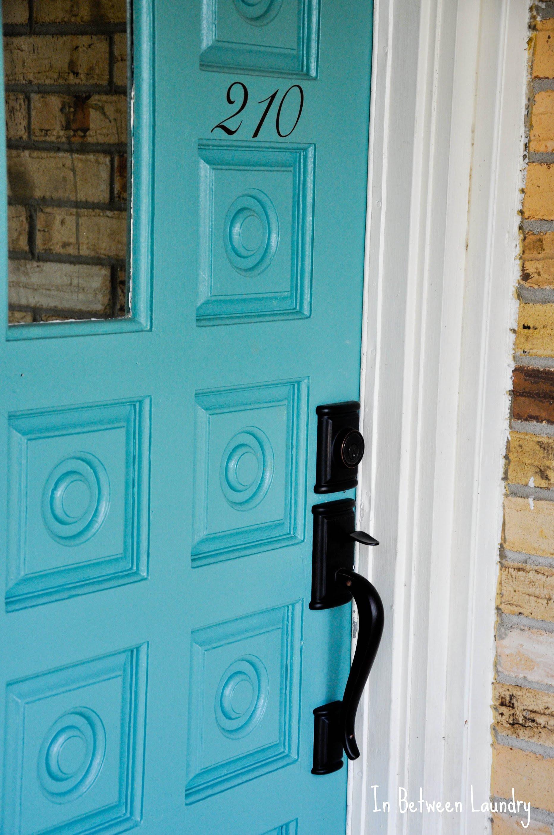 vinyl address numbers on door makeover
