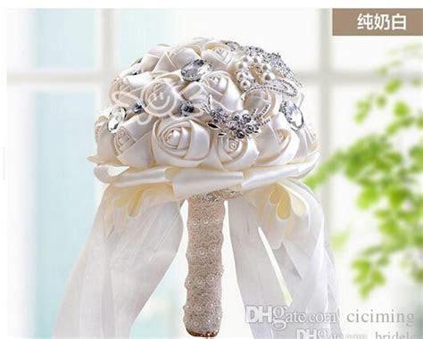 Wholesale Bridal Bouquets Artificial Flowers Ivory White