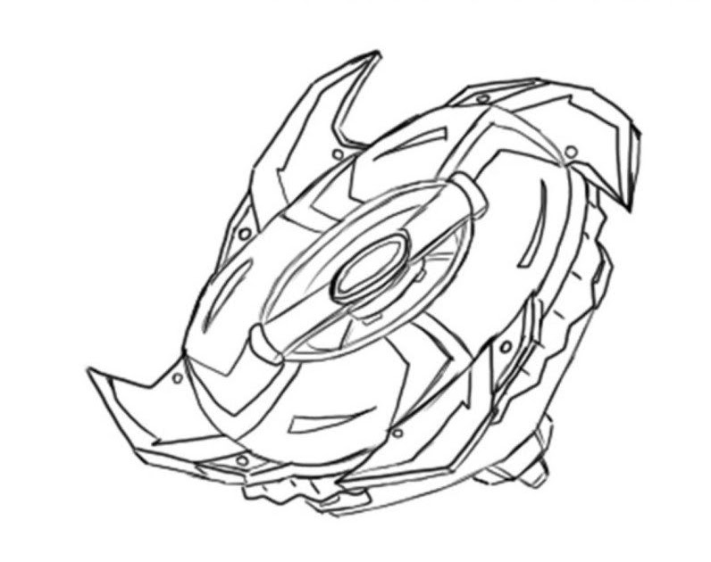 Beyblade Pieces Spryzen Coloring Pages - Coloring Pages Ideas
