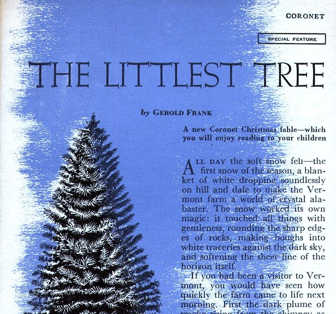 The Littlest Christmas Tree Story: Today's Inspiration: Art Seiden's Littlest Christmas Tree