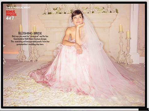 Brides Like Jessica Biel Wear Pink Wedding Dresses