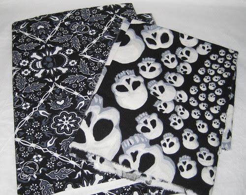 skull fabric