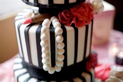 Black, White & Pink Fashion Themed Bridal Shower   Inside