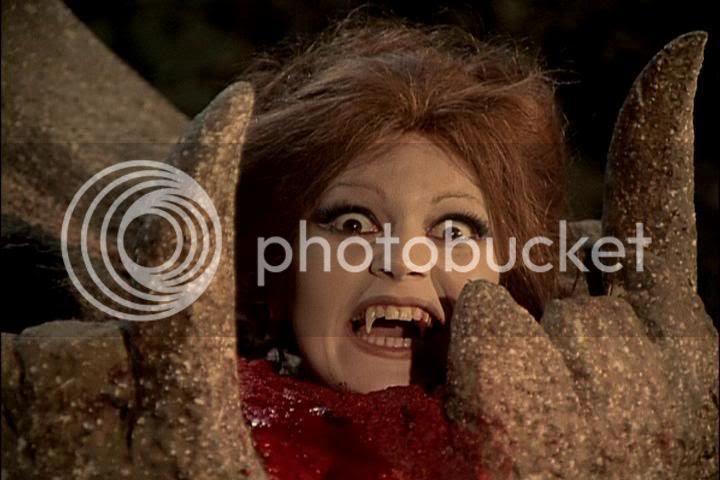 screaming vampire head