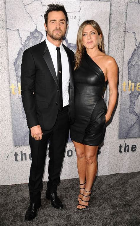 Jennifer Aniston Is Back in Black at Justin Theroux's The