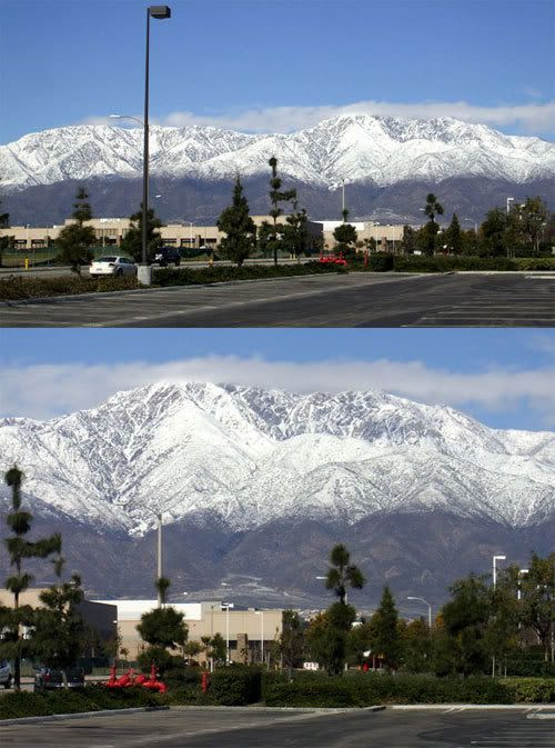 Pictures I took of Mt. Baldy in California.