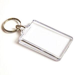 Blank Keyring Keychain Printed Insert/Company Logo - Plastic 50mm ...