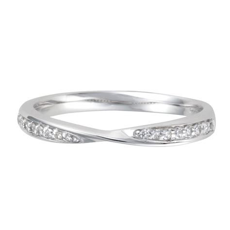 Platinum Twist Diamond Wedding Ring From Berry's Jewellers